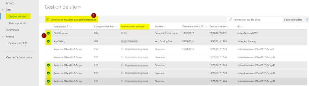 Sharepoint administration : gestion de site